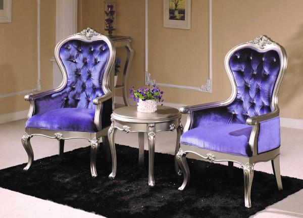 кресла со столом Princess Silver