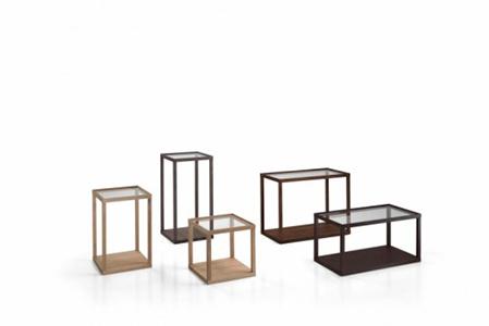 Dany - piano vetro/base legno